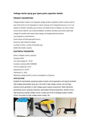 Voltage stacks spray gun spare parts capacitor