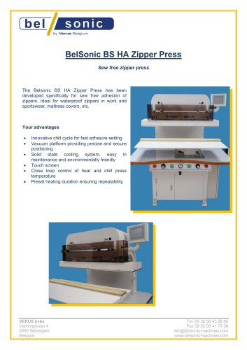 BelSonic BS HA Zipper Press