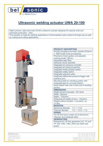 Ultrasonic welding actuator UWA 20-100
