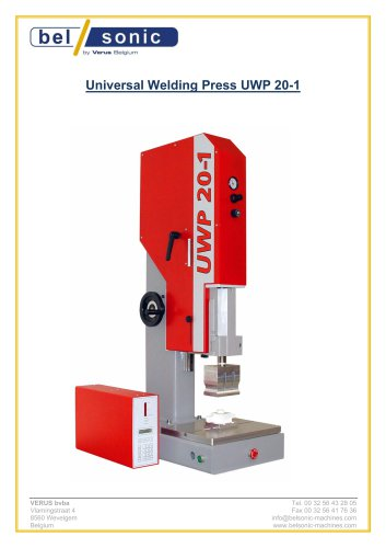 Universal Welding Press UWP 20-1