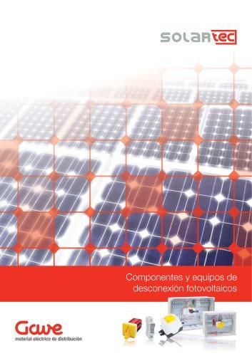 Componentes y equipos para instalaciones fotovoltaicas