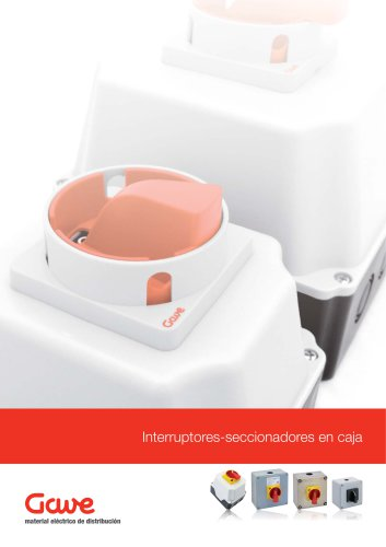 Interruptores-seccionadores en caja