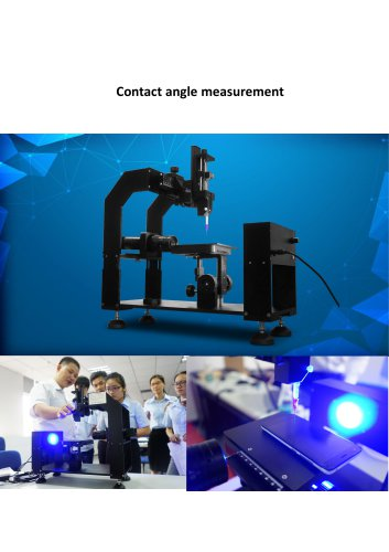 Contact angle measurement