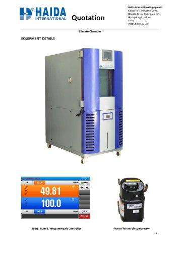 HD-E702-150-7 Climate Chamber