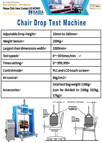 HD-F736 Chair Drop Tester