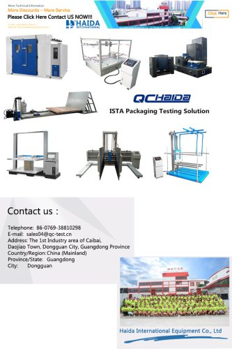 ISTA Packaging Testing Solution