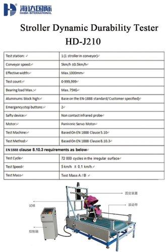 Stroller Dynamic Durability Tester