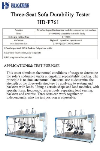 Three-Seat Sofa Durability Tester