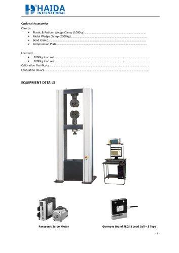 Universal testing machine / Tensile strength tester