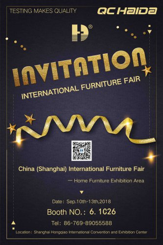 "We'll wait for you at the ""China International Furniture Fair"""