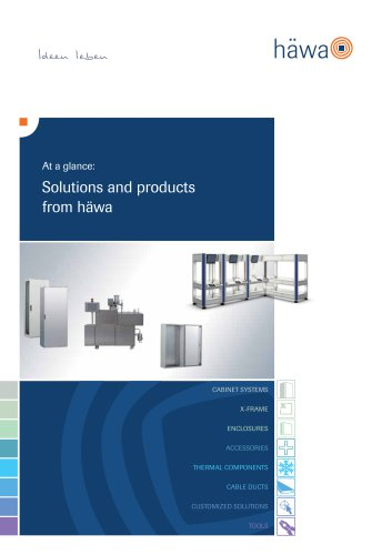 At a glance: Solutions and products from häwa