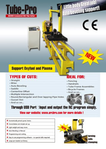 ARCBRO Tube-pro CNC Pipe Cutting Machine