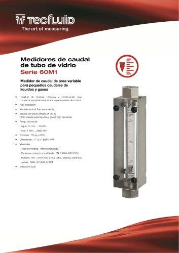 Serie_60M1_Medidor_de_caudal_Area_Variable_tubo_de_vidrio