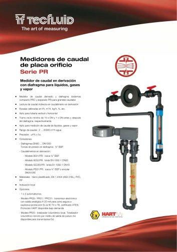 Serie_PR_Medidor_de_caudal_derivado_Placa_Orificio