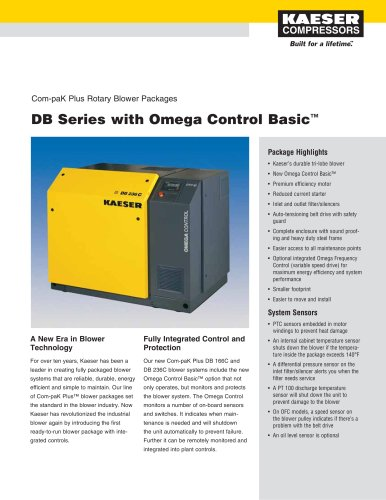 DB Series with Omega Control Basic - Com-paK Plus Rotary Blower Packages