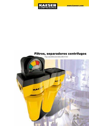 Filtros, separadores centrífugos