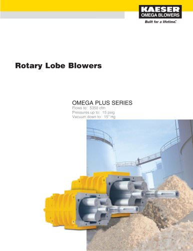 Omega Bare Blowers - Rotary Lobe Blowers