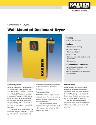 Wall Mounted Desiccant Dryers