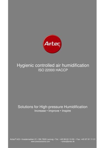 Hygienic controlled air humidification