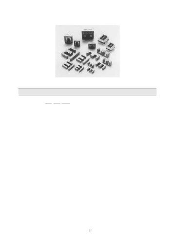 E-Type Ferrite Cores, Bobbins & Clamps