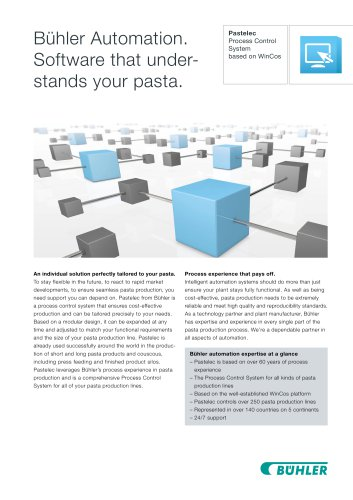 Bühler Automation. Software that understands your pasta.