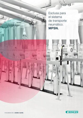 Esclusa para sistema de transporte neumatico MPSN