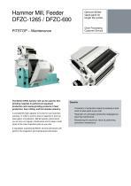 Hammer Mill, Feeder DFZC-1265 / DFZC-600