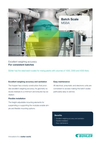 Weighing and receiving container system MSBA