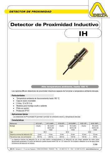 Detector de Proximidad Inductivo alta temperatura IH