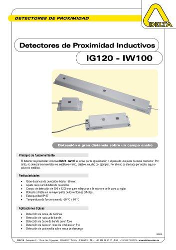 Detectores de Proximidad Inductivos IG120-IW100