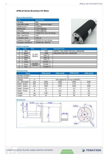 APBL42 Series Brushless DC Motor