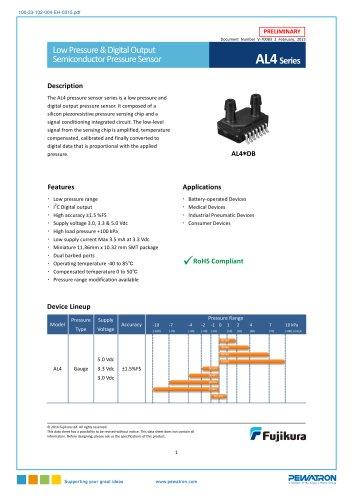 Fujikura digital AG4, AP4 and AL4 pressure sensors