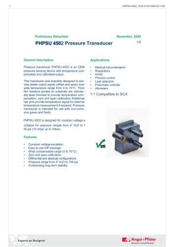 PHPSU 4502 Pressure Transducer