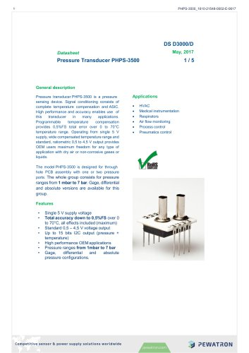 Pressure Transducer PHPS-3500