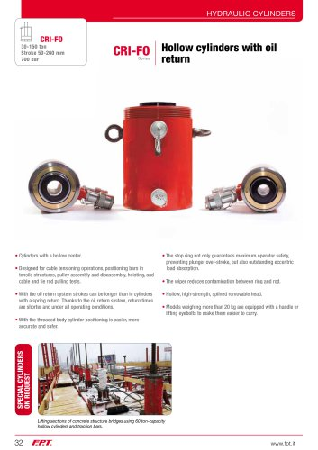 CRI-FO Series Hollow cylinders with oil return