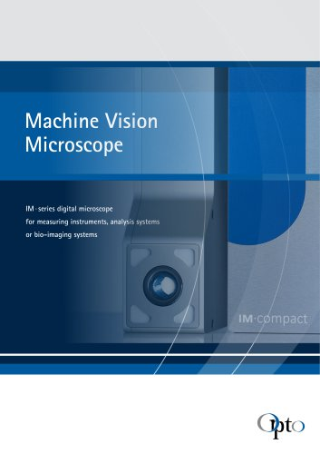 IM MACHINEVISIONMICROSCOPE