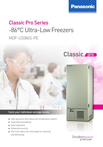 -86°C Ultra Low Freezers MDF-U3386S-PE