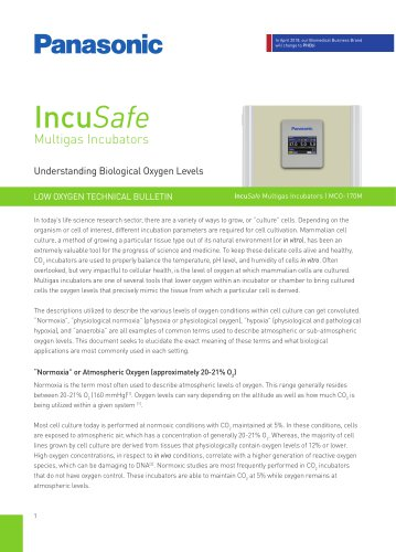 IncuSafe Multigas Incubators - Understanding Biological Oxygen Levels