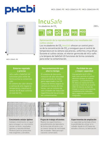 MCO-230AIC-PE Incubadores de CO2