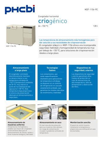 MDF-1156(ATN)-PE congelador criogénico