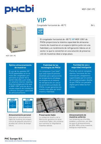MDF-C8V1-PE Congelador horizontal de –80 °C