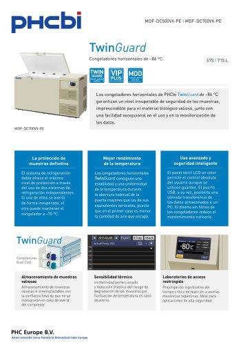 MDF-DC500/700VX-PE Congeladores horizontales de –86 °C