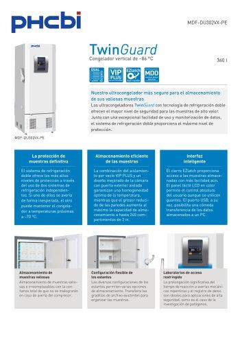 MDF-DU302VX-PE Congelador vertical de –86 °C