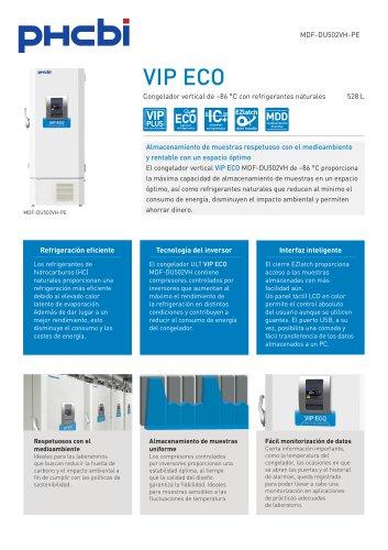 MDF-DU502VH-PE Congelador vertical de –86 °C con refrigerantes naturales
