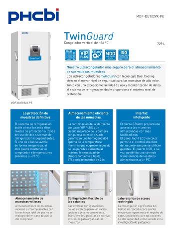 MDF-DU702VX-PE Congelador vertical de –86 °C