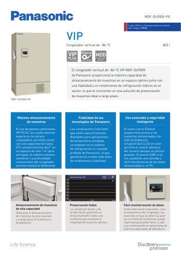 MDF-DU900V VIP Congelador vertical de –86°C