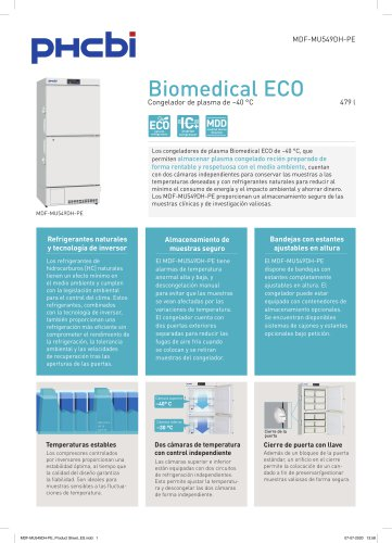 MDF-MU549DH-PE Biomedical ECO -40°C Plasma Freezer