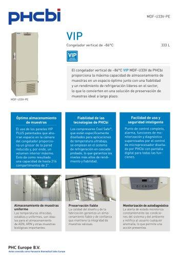 MDF-U33V-PE Congelador vertical de –86°C