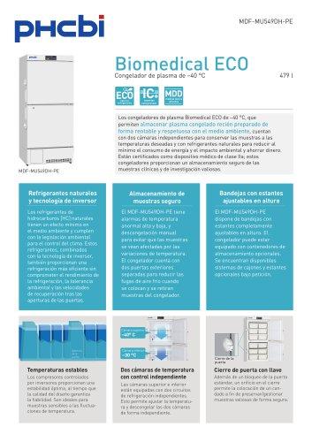 MDF-U5412H-PE Congelador de plasma de –40 °C