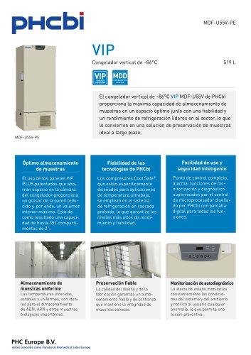 MDF-U55V-PE Congelador vertical de –86°C